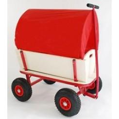 Trækvogn træ med luftgummi hjul
